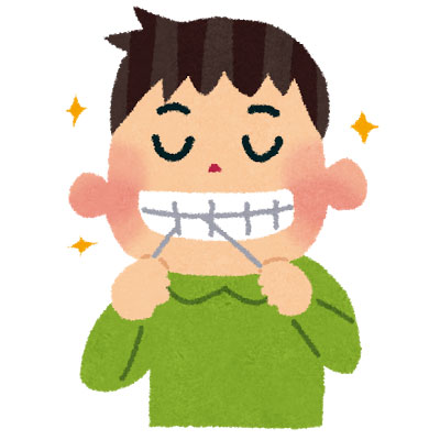 free-illustration-dental-fross-boy-irasutoya